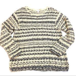 J.jill Striped Knit Sweater